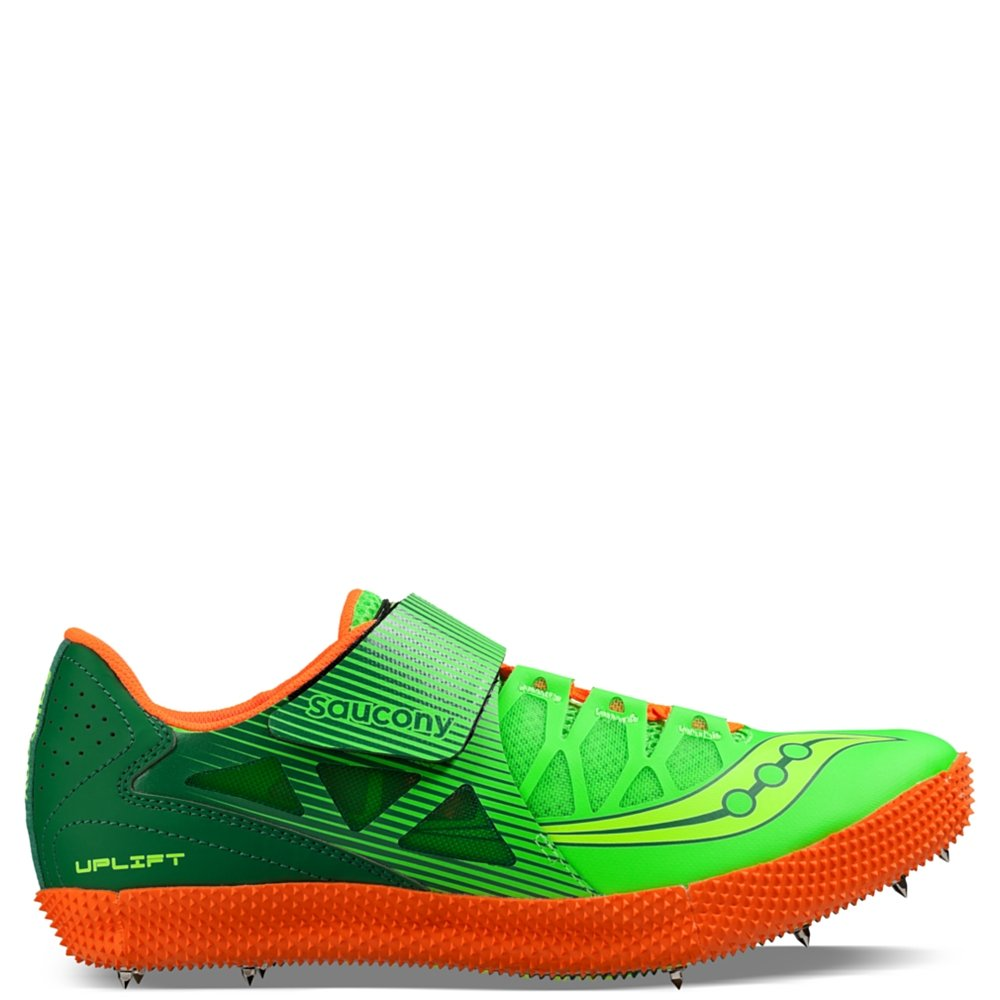 Saucony Men's Uplift HJ2 Track Shoe, Citron/Vizi Orange, 14 M US