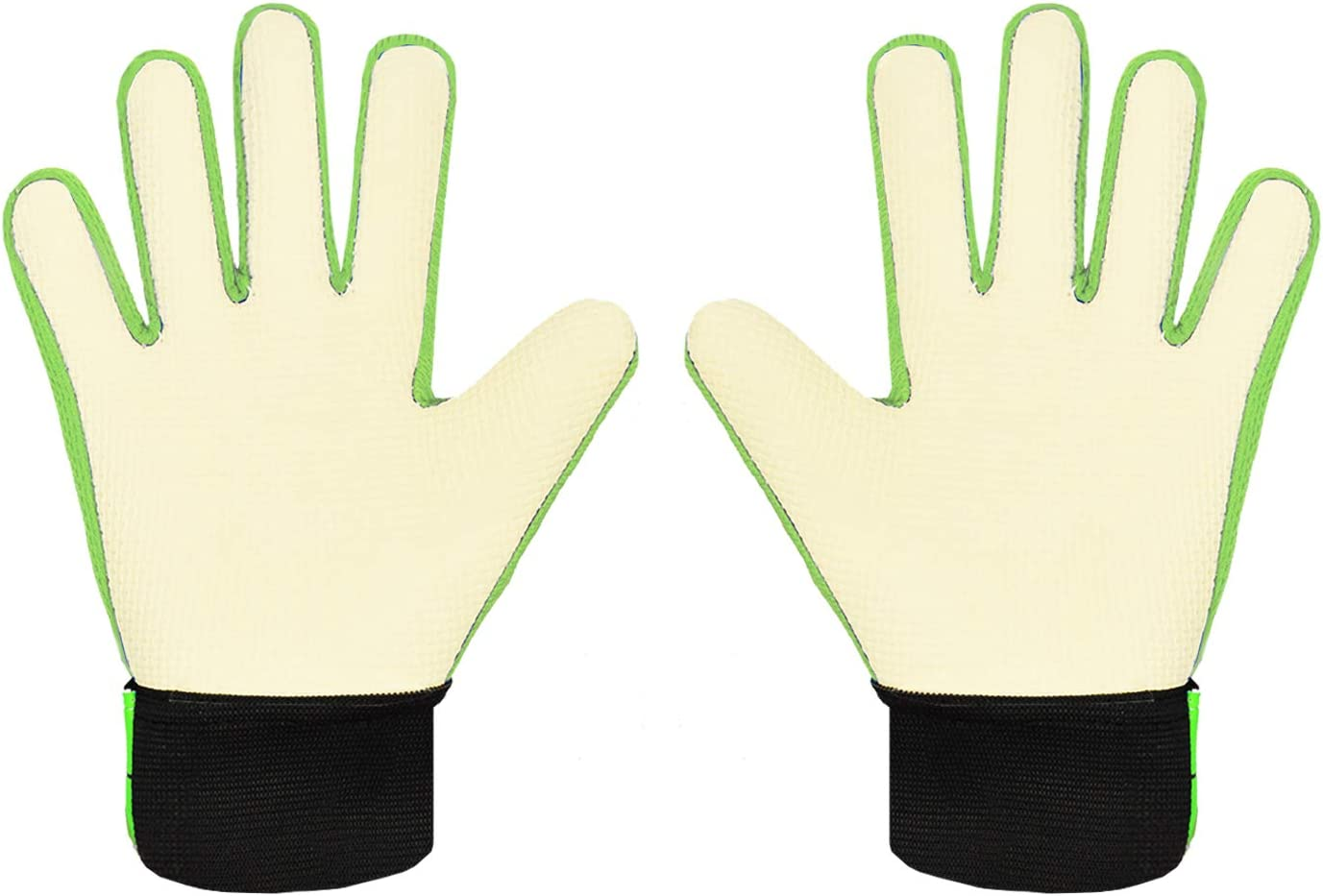Sportout Kids Junior Goalkeeper Gloves Boys and Girls Training Gloves with Double Wrist Protection and Non-slip Wear Resistant Latex Material to Give Splendid Protection to Prevent Injuries