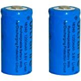 Skytower Set of 2 x CR123A 1200mah 3.6v 16340 Ultrafire Torch Rechargeable Li-ion Battery
