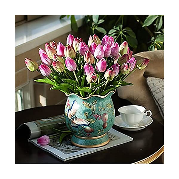JJH-1-Branch-PU-Real-Touch-Tulips-Tabletop-Flower-Artificial-Flowers