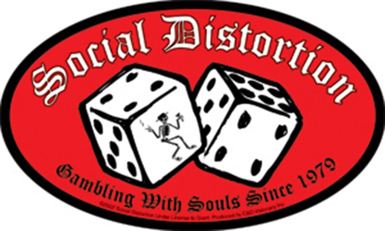 Licenses Products Social Distortion Dice Sticker C/&D Visionary Inc S-2097