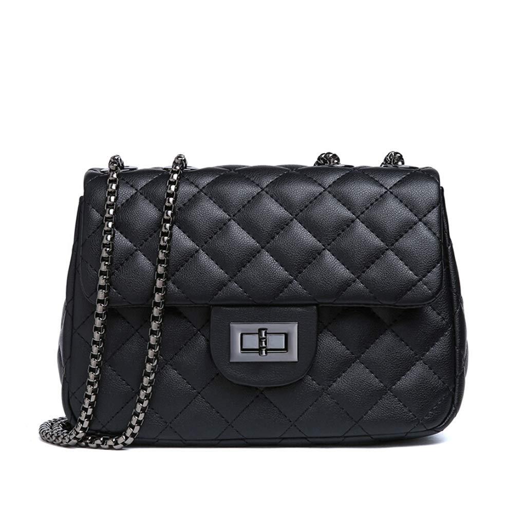 ファッションハンドバッグ人工皮革小さな香水ショルダーバッグダイヤモンドチェーンバッグトレンドメッセンジャーバッグ B07MW5P3TM