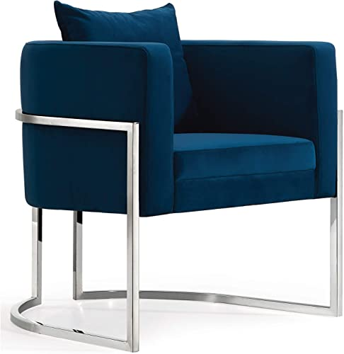 Meridian Furniture Pippa Collection Modern | Contemporary Velvet Upholstered Accent Chair