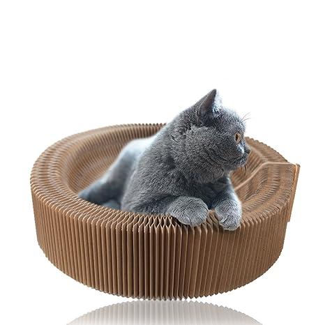 Splink Rascador de Gato para Sofá Plegable Cato con Rascador Gatos Juguete y Catnip de Alta