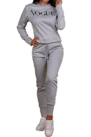 Conjunto de chándal para Mujer con Estampado Vogue y pantalón de ...