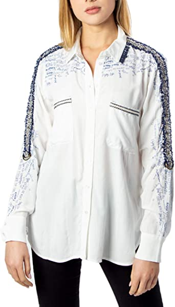 Desigual Camisa Hamburgo Blanca para Mujer.: Amazon.es: Ropa y accesorios