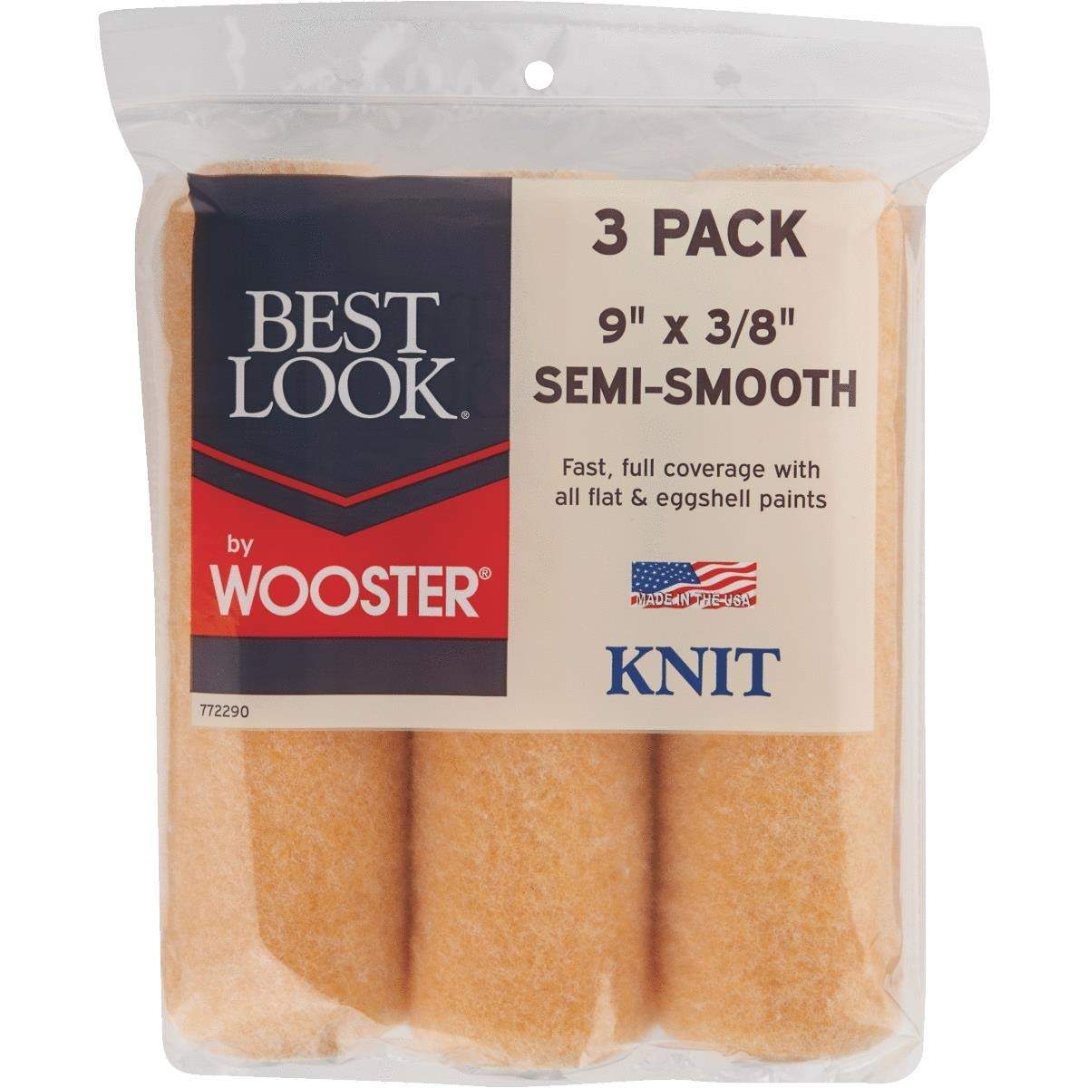 Wooster Brush Company DR425-9 Knit Cover, 9'X3/8