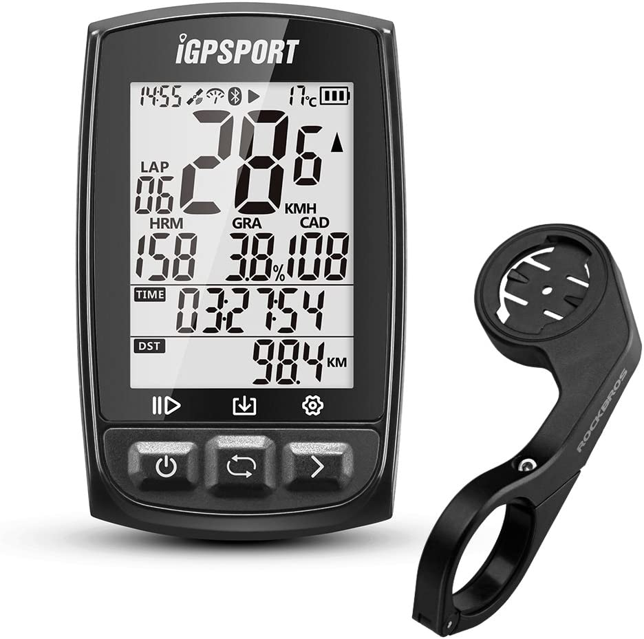 iGPSPORT GPS Bike Computer Wireless Cycling Computer with ANT+ Function Bike Speedometers Cycle Computer with Bike Mount