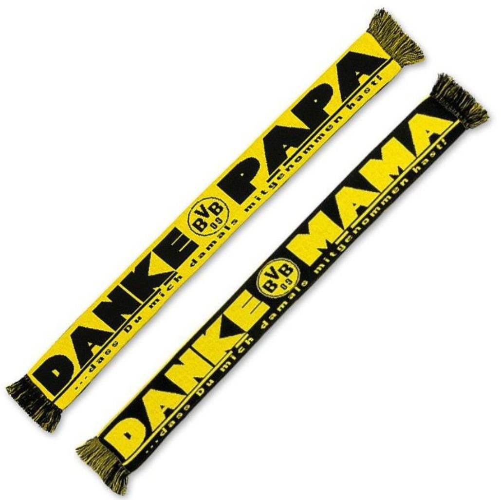 DANKE MAMA BVB 09 Scarf Borussia Dortmund Schal Fanschal DANKE PAPA