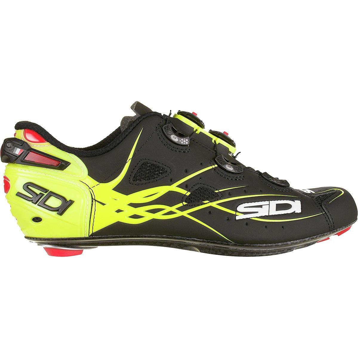 (シディ) Sidi Shot Vent Carbon Cycling Shoe メンズ ロードバイクシューズFlo Yellow/Matte Black [並行輸入品] B07G74YR62 日本サイズ 28.5cm (44)|Flo Yellow/Matte Black Flo Yellow/Matte Black 日本サイズ 28.5cm (44)