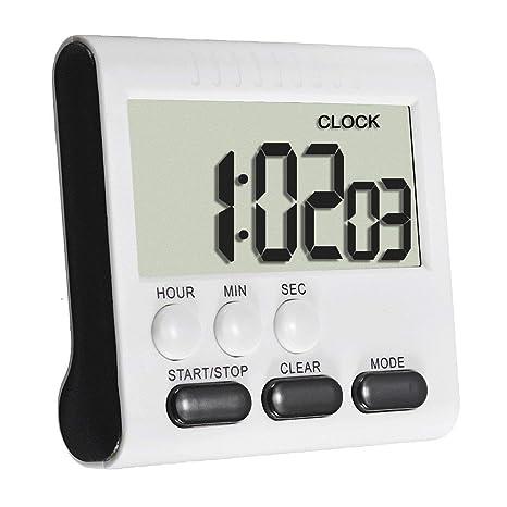 Isuper Cocina Conveniente Digital magnética de Alarma del cronómetro Multifuncional Reloj Temporizador con Gran Pantalla LCD