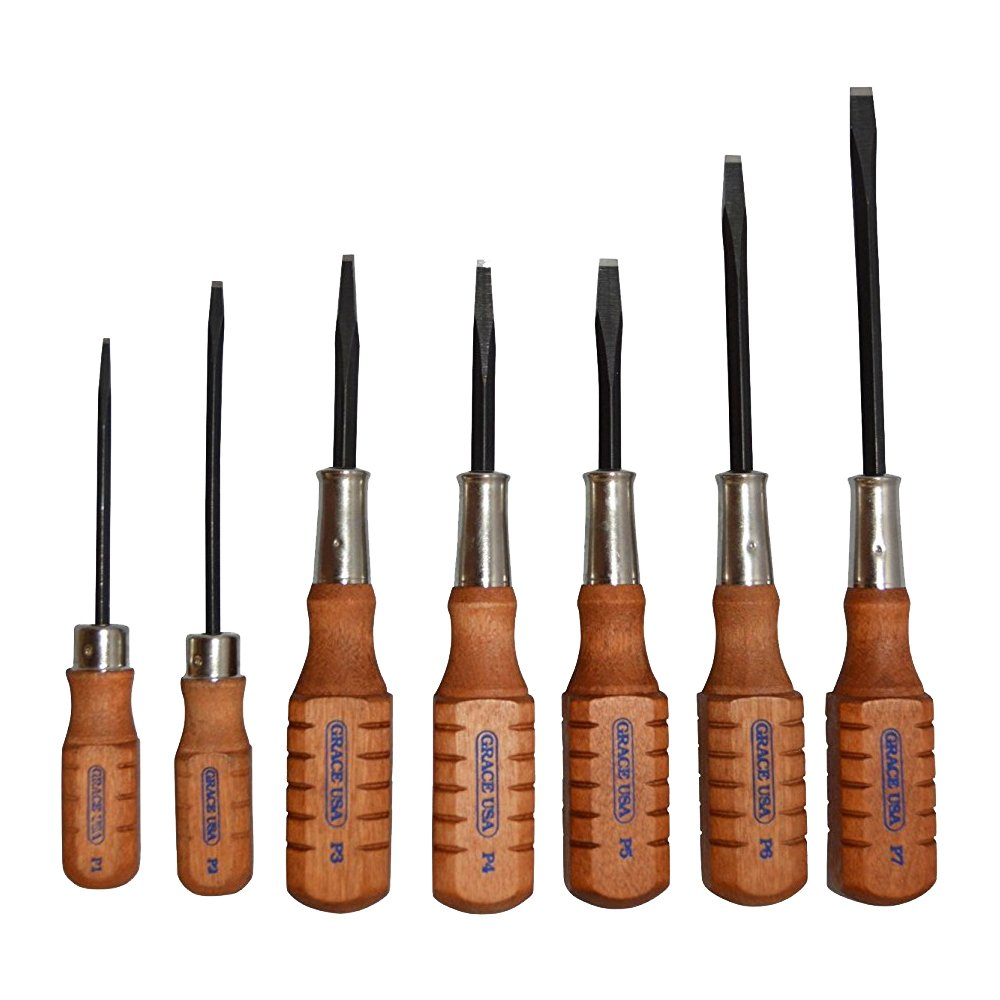 Grace USA - Pistolsmith Guncare Screwdriver Set- HG7 - Gunsmithing - Screwdrivers - 7 piece - Gunsmith Tools & Accessories