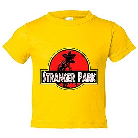 Camiseta niño Stranger Things Stranger Park Jurassic Park - Amarillo, 3-4 años