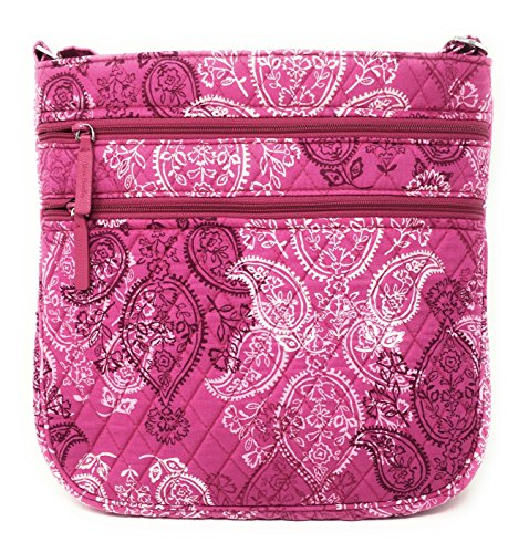 Bag Vera Body Triple Stamped With Paisley Interior Bradley Zip Hipster Pink Cross arSSYXwq