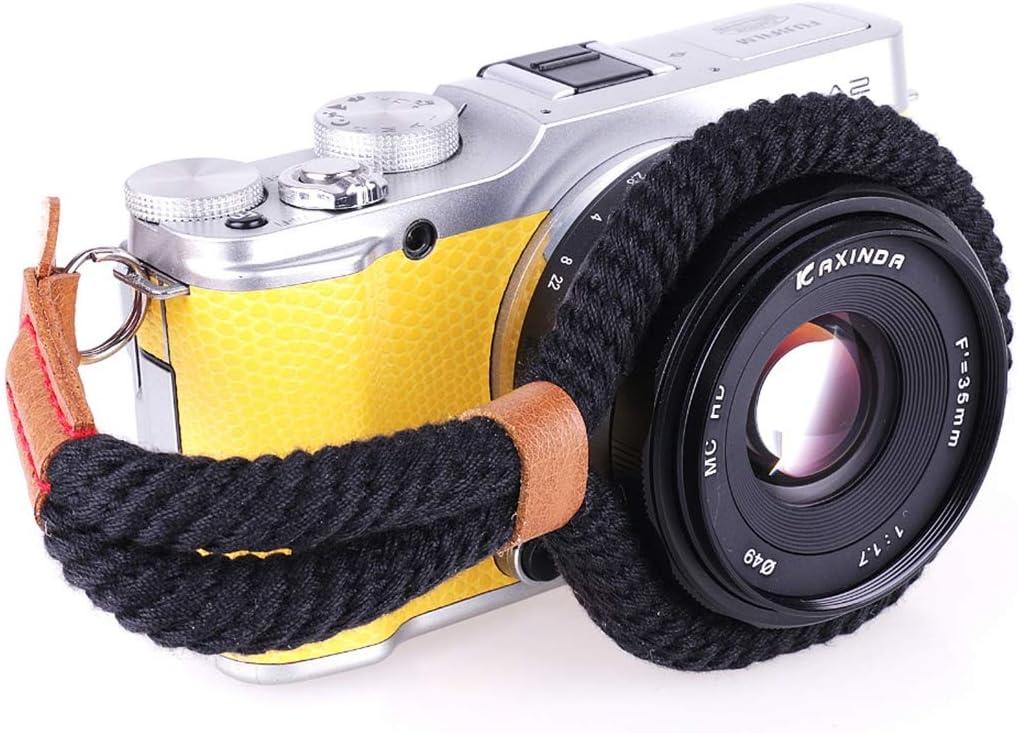 Black XulilinQ Camera Belt Vintage Cotton Flabby Hand Strap Grip Wrist Strap for DSLR//SLR Cameras Color : Black
