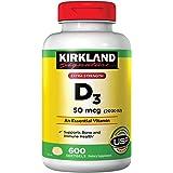KIRKLAND SIGNATURE Maximum Strength Vitamin D3 2000 I.U. 600 Softgels, Bottle Personal Healthcare/Health Care