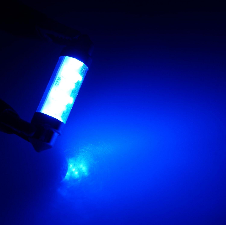 9 LED Blue 2-pc Set TuningPros LEDSTL-42M-B9 Step Light LED Light Bulbs Festoon 42mm