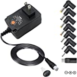 Belker 24W Universal 3V 4.5V 5V 6V 7.5V 9V 12V Multi Voltage AC DC Adapter Switching Replacement Power Supply for Household Electronics Routers Speakers LCD CCTV Cameras Max. 2A 2000mA