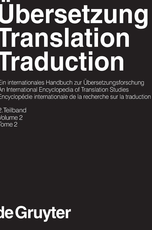 Ubersetzung Translation Traduction An International Encyclopedia Of