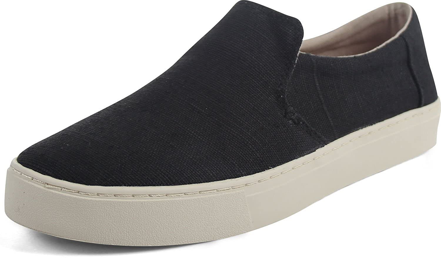 Men's Lomas Slip-On Black Heritage Canvas 7 D US