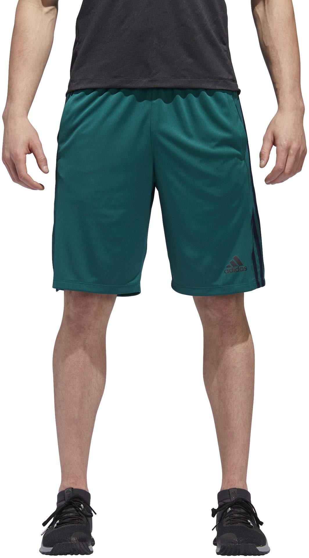 adidas Men's Designed-2-Move Shorts (Small, Noble Green/Collegiate Navy)