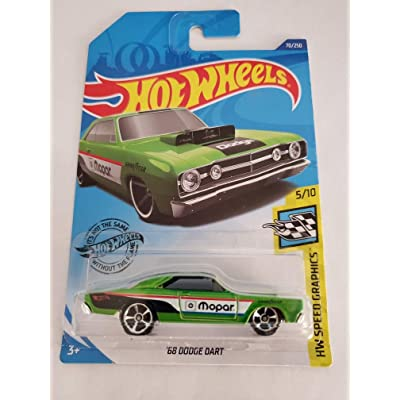Hot Wheels 2020 Hw Speed Graphics '68 Dodge Dart, Green 70/250: Toys & Games