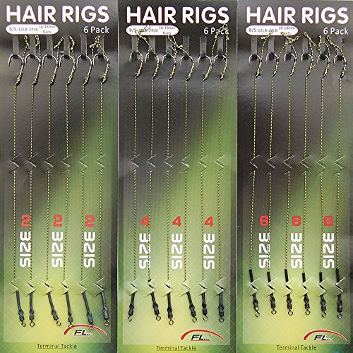 Shaddock Fishing 18pcs Carp Fishing Hair Rigs Braided Thread 8340