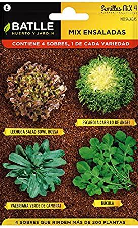 Huerto Urbano - Mix Siembra Otoñal - HU - Batlle: Amazon.es: Jardín
