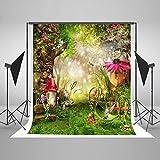Photography Backdrop 5 x 7 Fairy Tale Flowers Garden Background Newborn Fantasy Forest Background Newborn