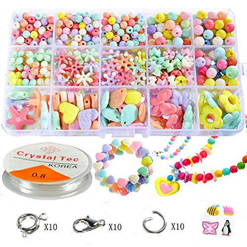 Pnbb Colorful Acrylic Beads Toy DIY Jewelry for Children Necklace