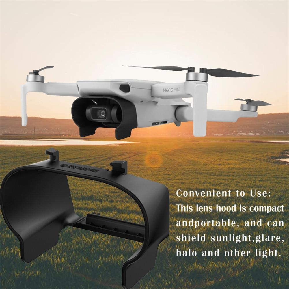 etateta 2pcs Drone Lens Hood Sun Shade Gimbal Cover Camera Protector Guard Accessories for DJI Mavic Mini Black