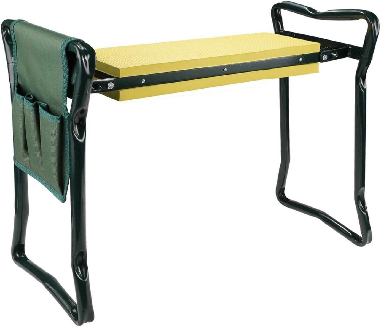 Wichai Shop Folding garden kneeler seat cushion kneeling pad stool bench gardener tool sturdy knee pouch