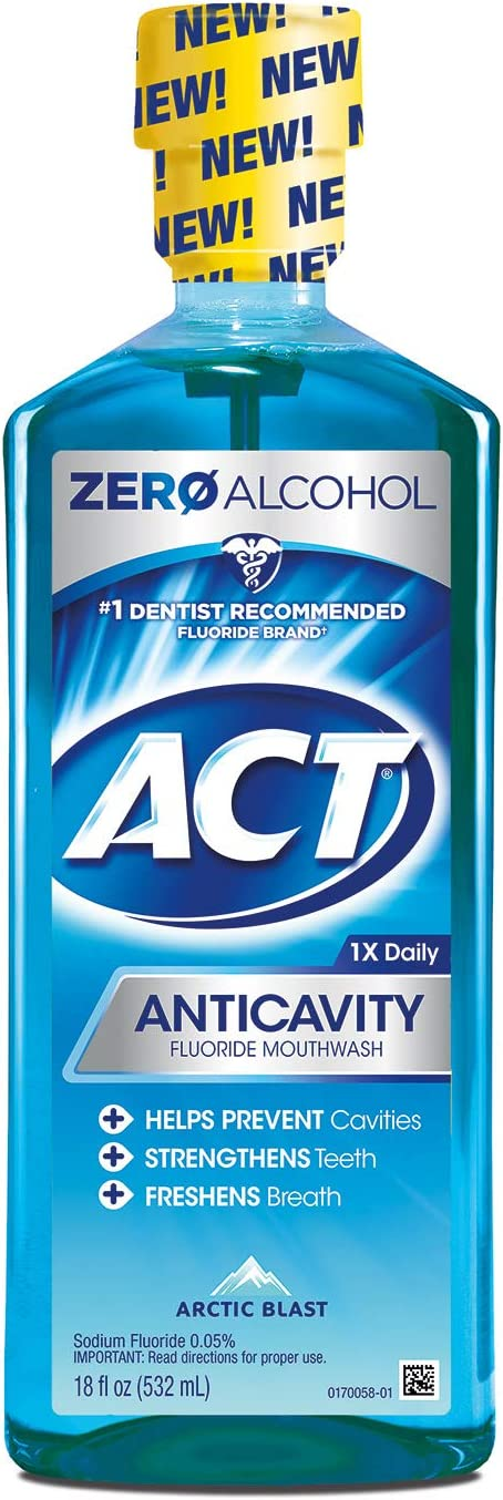 Act Anticavity Fluoride Mouthwash, Arctic Blast, 18 Oz