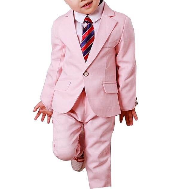 Amazon.com: YUFAN - Conjunto de 3 piezas de trajes a cuadros ...
