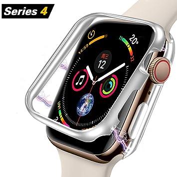 Elewelt Funda Compatible con Apple Watch 44 mm, [Tecnología de adsorción magnética] [Estructura metálica],iWatch Cubierta Protectora de protección ...