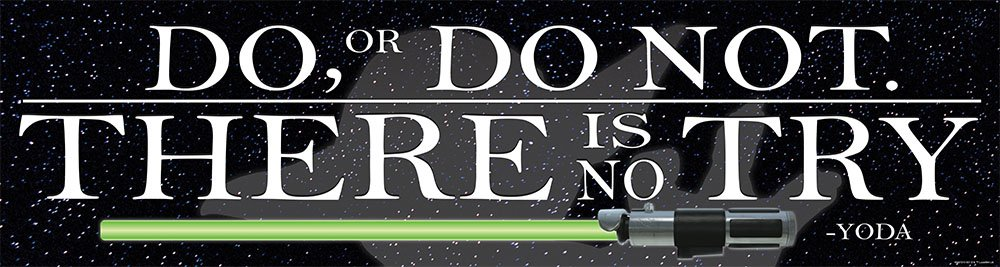 Eureka Star Wars''Do, or Do Not'' Classroom Decoration Banner for School Teachers, 12.5'' W x 18'' L