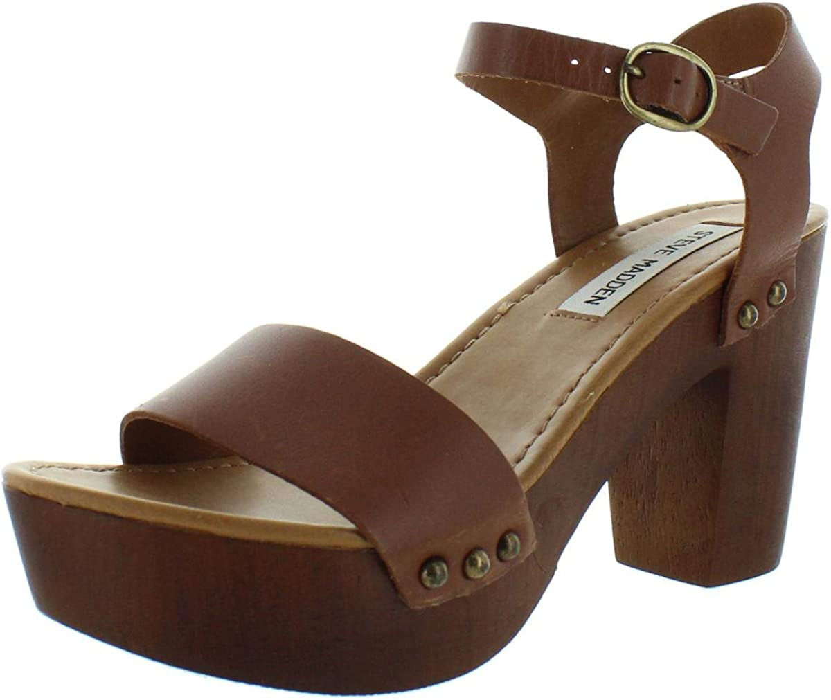 heroico Laboratorio Premisa  Steve Madden Luna Women's Sandal 7 B(M) US Cognac: Amazon.ca: Shoes &  Handbags