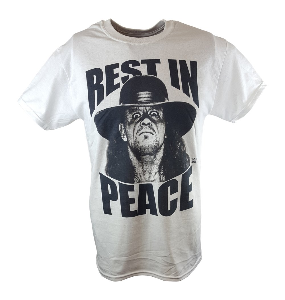Undertaker Rest In Peace WWE Mens White T-shirt-XXL