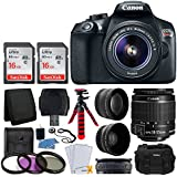 Canon EOS Rebel T6 DSLR Camera + EF-S 18-55mm f/3.5-5.6 IS II Lens + Wide Angle & Telephoto Lens + 32GB Memory Card + Flexible Tripod + UV Filters + Photo4Less Case + USB Card Reader + Accessories