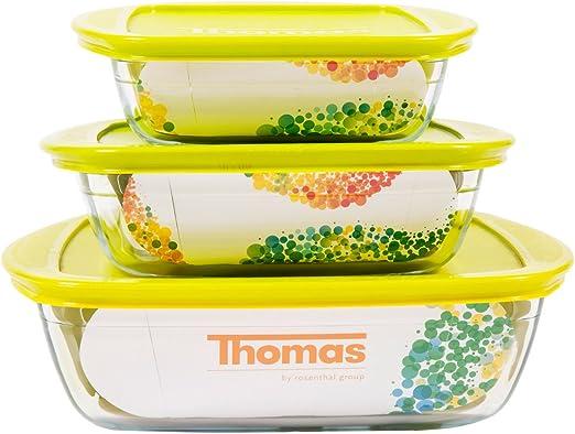 Thomas Rosenthal - Juego de 3 recipientes de cristal para hornear ...