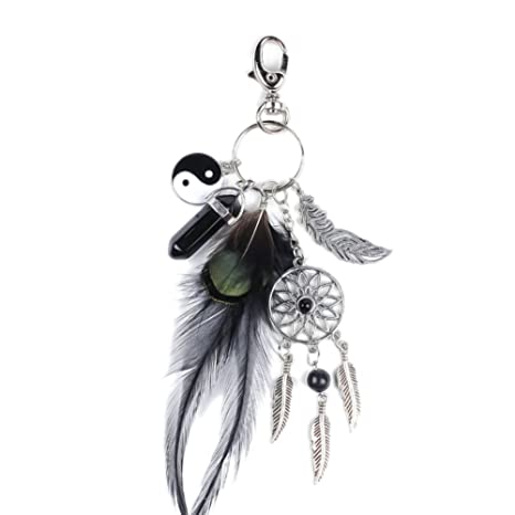 Amazon.com: tracfy elegante Atrapasueños llavero hecho a ...