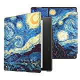 Fintie Slim Case for Kindle Oasis (9th Generation, 2017 Release ONLY) - Premium Slim Shell Protective Cover with Auto Wake / Sleep for Amazon All-New 7'' Kindle Oasis E-reader, Starry Night