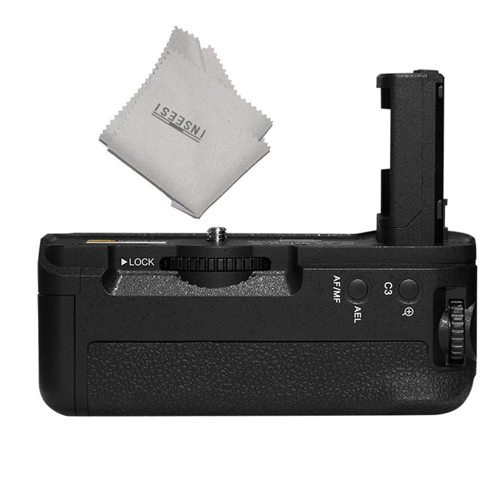 Pixel AG-C2 Battery Grip Compatible for NP-FW50 for Sony A7SII A7RII A7II Cameras +INSEESI Clean Cloth (Replacement of Sony VGC2EM) 4331995561
