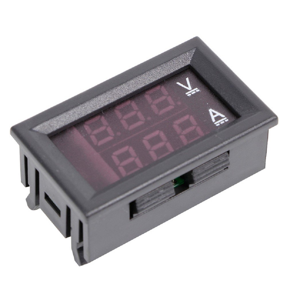 Amazon.com: 0-100V/50A Digital Voltmeter Ammeter 2in1 DC Volt Amp ...
