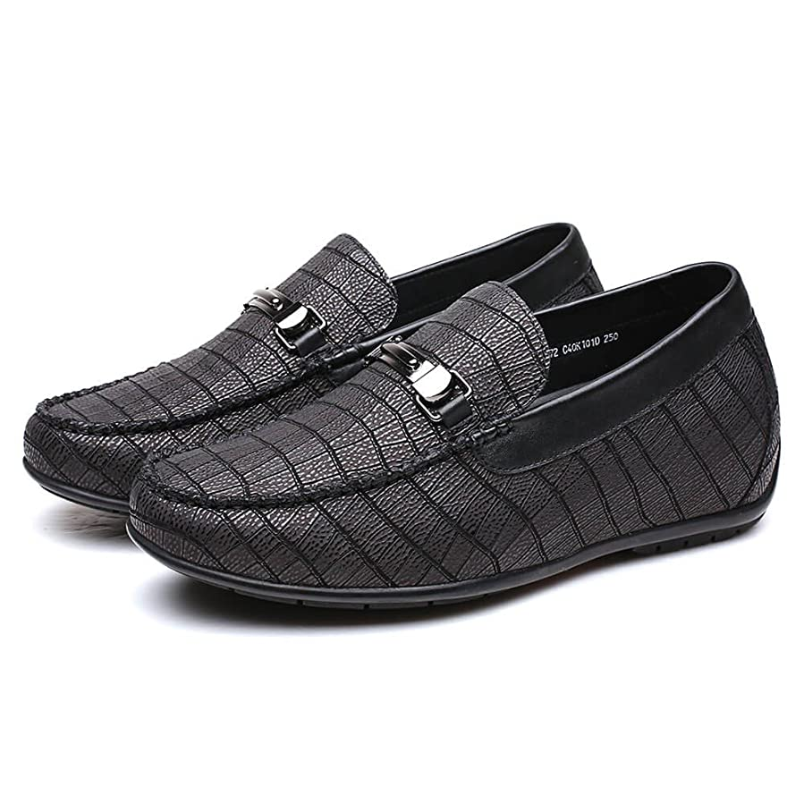 Casual Men Elevator Shoes Height Increasing Shoes 2.36 Inches Loafer Shoes H72C40K102D