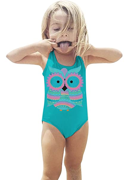 1e26fac714f66 W. DRIZZLE Baby Girl Unicorn Print Bikini One Piece Swimsuits Cute Bathing  Suits for Toddler