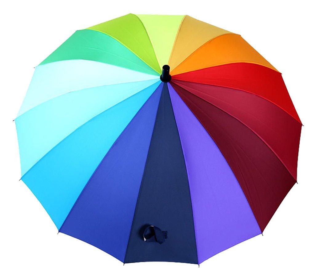 Generic Large Folding Travel Umbrella Size 68inch Multicolor