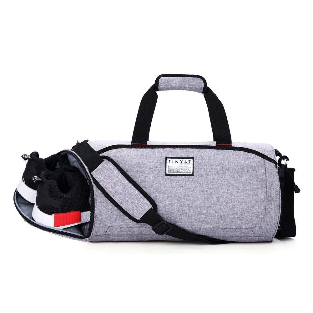 Gym Bag with Shoe Compartment Luggage Bag Sports Bag Foldable Travel Duffel Bag Large Duffels Portable For Women Men