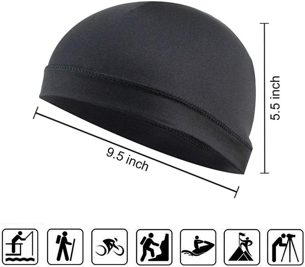 4 Pack Cycling Skull Caps Helmet Liner Sweat Wicking Running Hats for Men Women