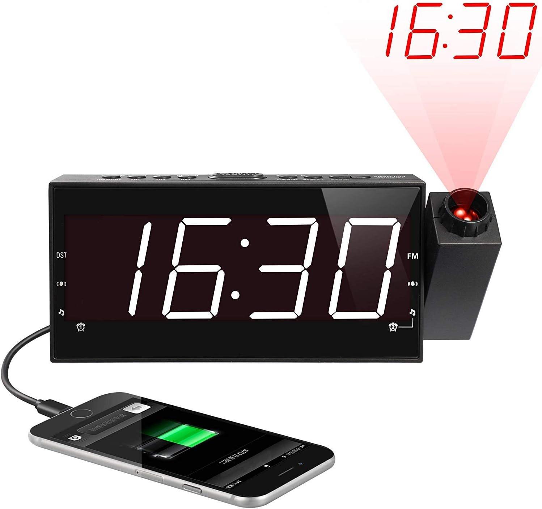 Digital Radio Despertador con Proyector, FM Radio Reloj ...